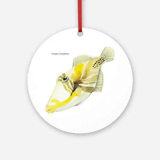 Picasso Triggerfish Fish Ornament (Round)