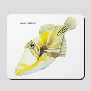 Picasso Triggerfish Fish Mousepad