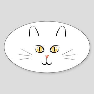 Halloween Cat Oval Sticker
