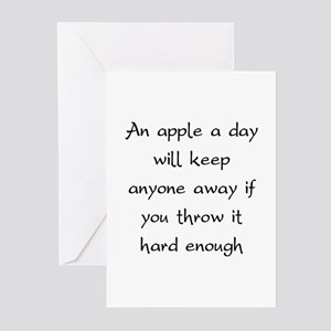 An Apple A Day Will Keep Everyone Away Greeting Ca