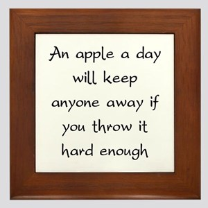 An Apple A Day Will Keep Everyone Away Framed Tile