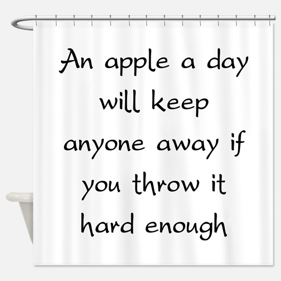 An Apple A Day Will Keep Everyone Away Shower Curt