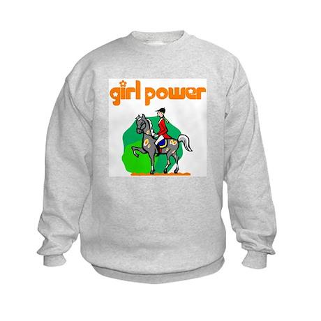 Girl Power Equestrian Kids Sweatshirt