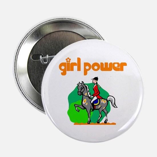 Girl Power Equestrian Button