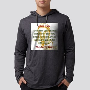 Convince Your Enemy - Sun Tzu Mens Hooded Shirt