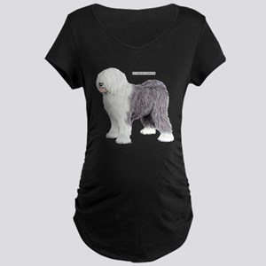 Old English Sheepdog Dog Maternity Dark T-Shirt