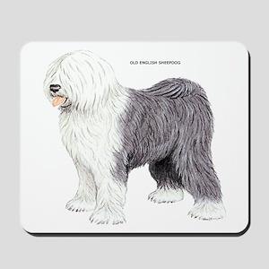 Old English Sheepdog Dog Mousepad