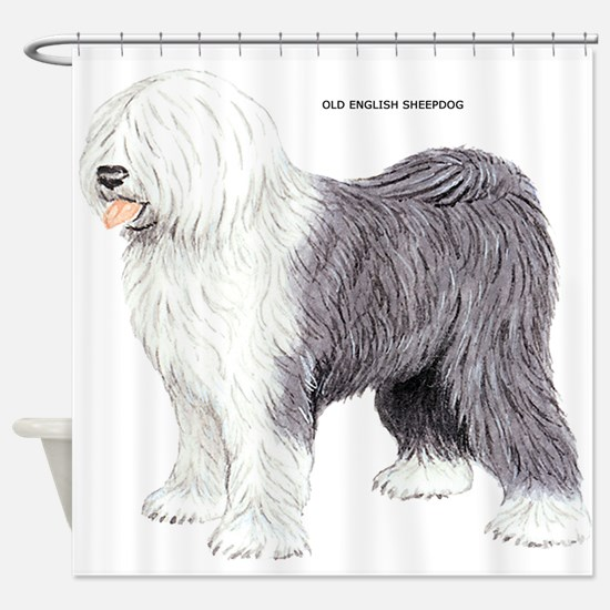 Old English Sheepdog Dog Shower Curtain