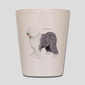Old English Sheepdog Dog Shot Glass