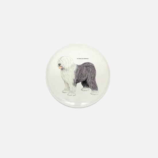 Old English Sheepdog Dog Mini Button