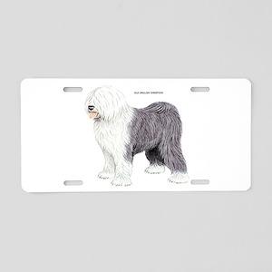 Old English Sheepdog Dog Aluminum License Plate