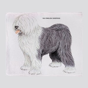 Old English Sheepdog Dog Throw Blanket