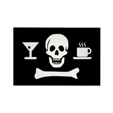 Beverage Jolly Roger Rectangle Magnet