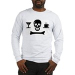 Beverage Jolly Roger Long Sleeve T-Shirt