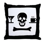 Beverage Jolly Roger Throw Pillow