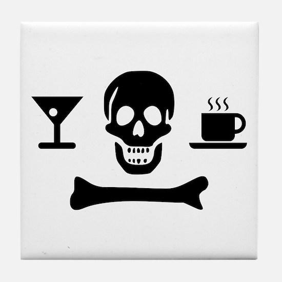 Beverage Jolly Roger Tile Coaster