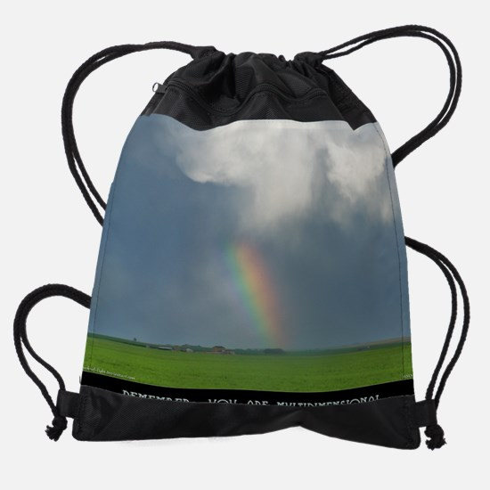 Remember, You Are Multidimensional  Drawstring Bag