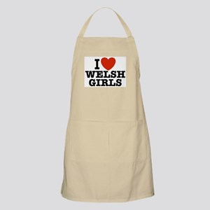 I Love Welsh Girls BBQ Apron