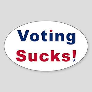"""""""Voting Sucks!"""" oval sticker"""