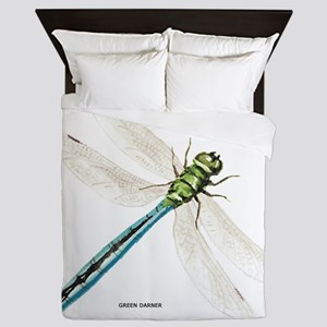 Green Darner Insect Queen Duvet