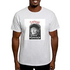 Zwingli Ash Grey T-Shirt