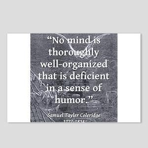 No Mind Is Thoroughly - Coleridge Postcards (Packa