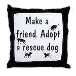 Adopt A Rescue Dog Throw Pillow