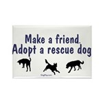Adopt A Rescue Dog Rectangle Magnet