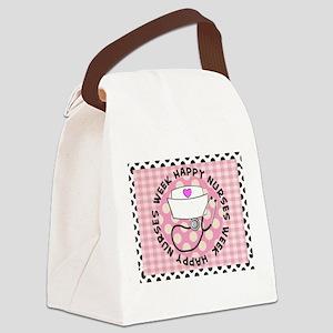happy nurses week card pink Canvas Lunch Bag