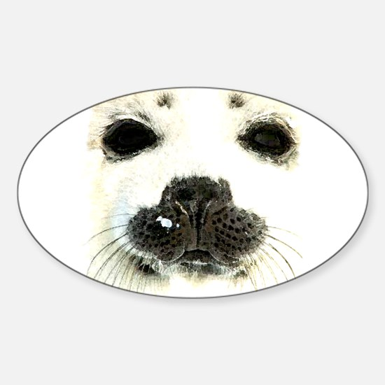 harp seal 1 Oval Decal