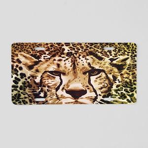 modern leopard print leopar Aluminum License Plate
