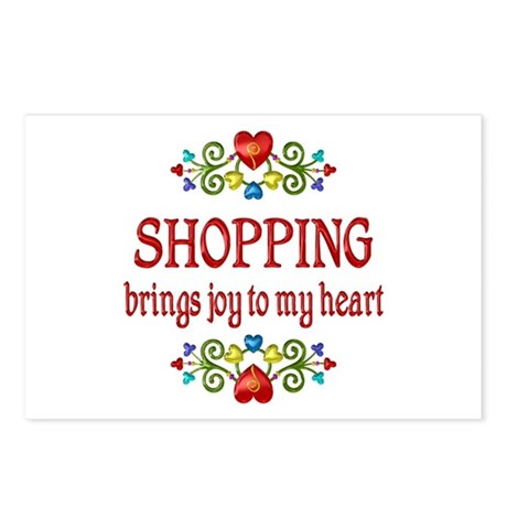 Shopping Joy Postcards (Package of 8)