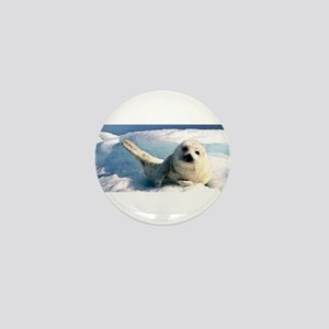 harp seal 2 Mini Button