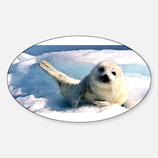 harp seal 2 Oval Decal
