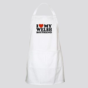 I Love My Welsh Boyfriend BBQ Apron