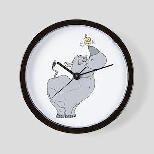 Rhino with Dreidel Wall Clock