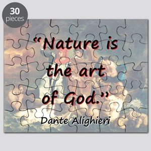 Nature Is The Art Of God - Dante Puzzle