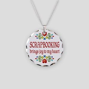 Scrapbooking Joy Necklace Circle Charm
