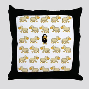 A Sheep with Attitude Throw Pillow