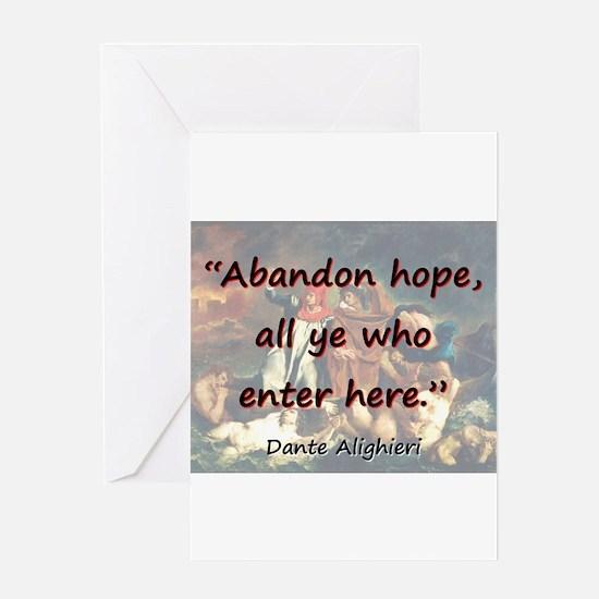 Abandon Hope - Dante Greeting Card