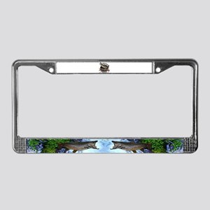 Brown trout fishing License Plate Frame