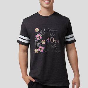 Elegant 40th Anniversary Mens Football Shirt