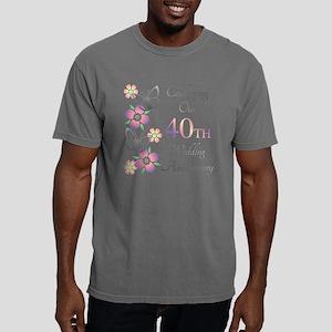 Elegant 40th Anniversary Mens Comfort Colors Shirt