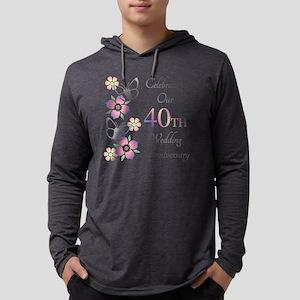 Elegant 40th Anniversary Mens Hooded Shirt