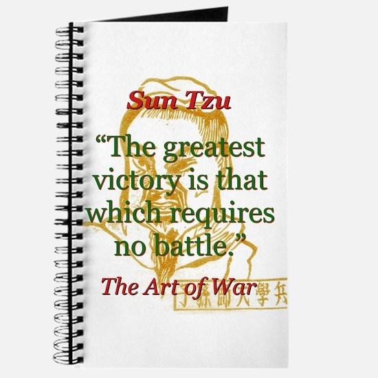 The Greatest Victory - Sun Tzu Journal