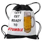 STUMBLE.jpg Drawstring Bag