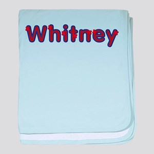 Whitney Red Caps baby blanket