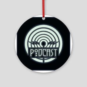 Podcast Art Deco Ornament (Round)