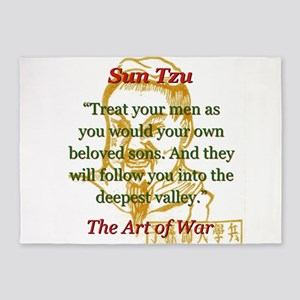 Treat Your Men As You Would - Sun Tzu 5'x7'Area Ru