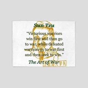 Victorious Warriors Win First - Sun Tzu 5'x7'Area